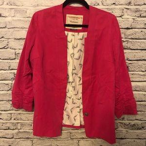 Cartonnier 1-button blazer in bright pink